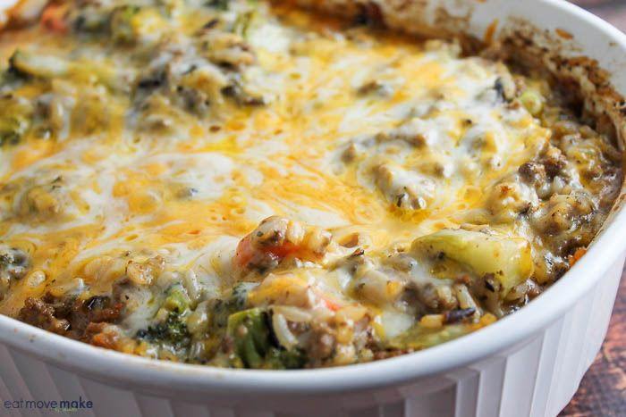 Cheesy Beef And Wild Rice Casserole With Lean Ground Beef Onion Mixed Vegetables Wild Rice Cre Wild Rice Casserole Wild Rice Recipes Rice Casserole Recipes