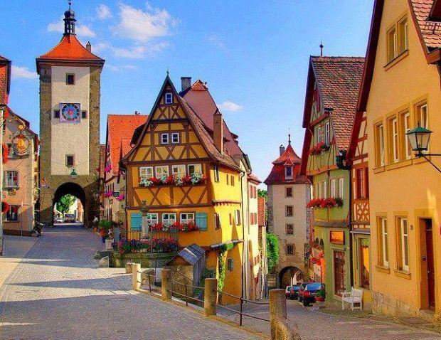 Scenic village...Rothenburg, Germany