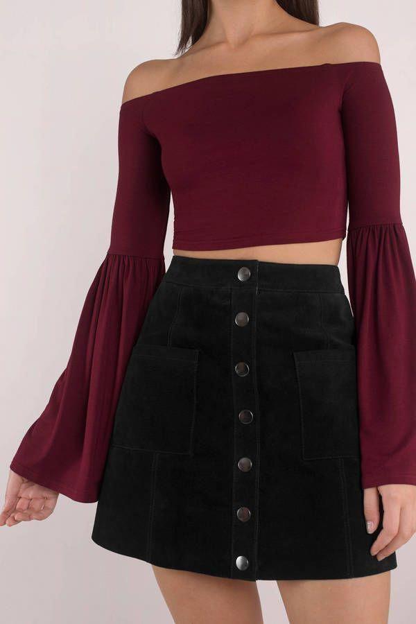 "Search ""Wavy Wine Off Shoulder Top"" on Tobi.com! #ShopTobi #fashion #summer #spring"