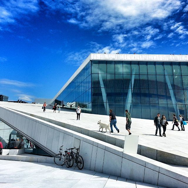 Oslo Opera House, Oslo, Norway! #visitoslo #visitnorway #norway #oslo #view #art #sky #blue #buildings #nice #architecture #house #travel #reise #reiseliv #ig_travel #beautiful #sun #summer#tourism #joy