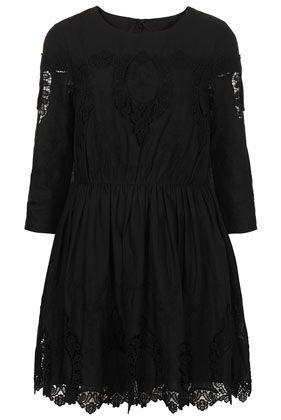 Pendant Embroidered Skater Dress - Dresses  - Clothing