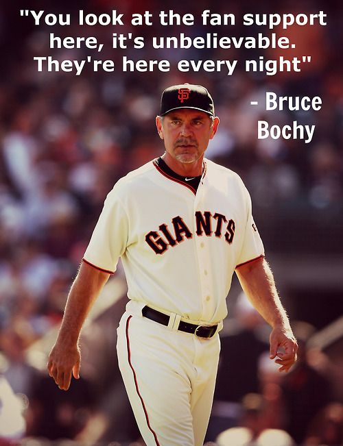 Bochy on the best fans in baseball. #SFGiants #OrangeOctober