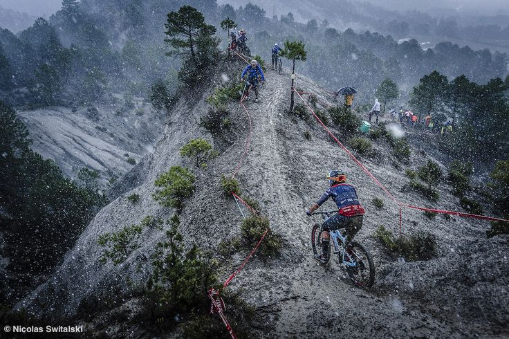 Last stage in Ainsa Spain for the 2015 EWS. This stage got cancelled due to some light weather conditions. Here Caro manages to skid her way down.