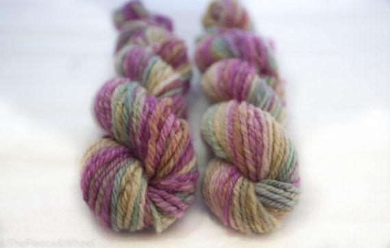 Hand Spun Yarn / Hand Spun Blue Faced Leicester / Knitting