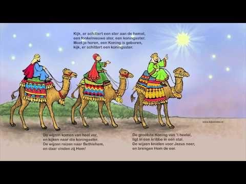 Kijk er schittert een ster aan de hemel.  De tekst van het lied staat op een lantaarn, www.bijbelidee.nl, of bord 'kerst lantaarns' - pinterest