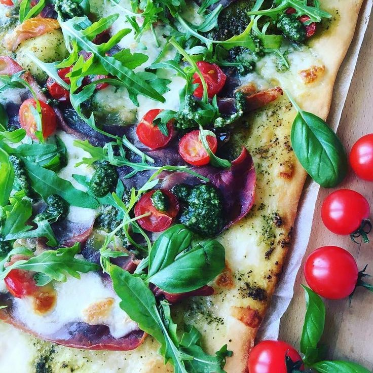 The smell of pizza and pesto 🍕 #Repost from @mammatilfiluca
