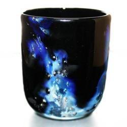 【琉球ガラス・銀河ロックグラス】銀箔入りの高級琉球グラス♪