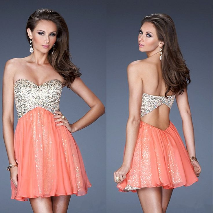 short salmon dress | Cute Outfits and Shoes | Pinterest ... Salmon Prom Dresses 2013