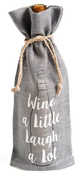 Wine bags make wonderful hostess gifts. Use heat transfer materials and a heat press to create your own designs.