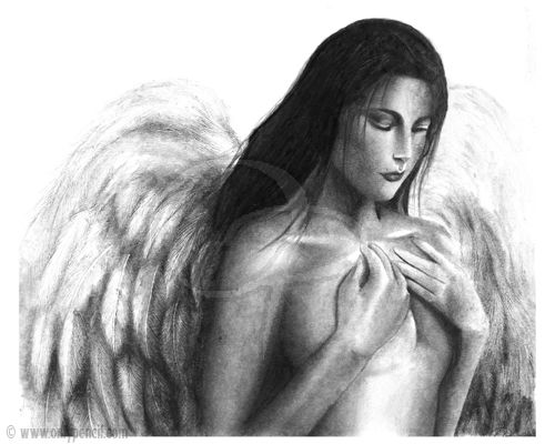 Angel drawings in pencil pencil drawings angels images high definition pic 19