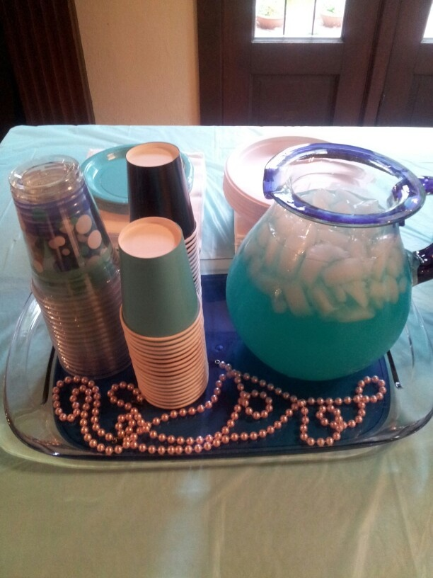 Breakfast at Tiffany's party punch.