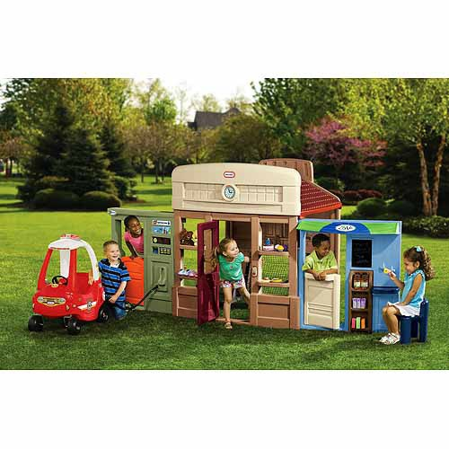 Little Tikes Towncenter, 6-in-1 Towncenter Playhouse, Outdoor Playhouse, Kid's Playhouse