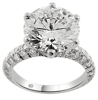 10 carat diamond ring | 10 Carat Julianna Diamond 14Kt White Gold Engagement Ring