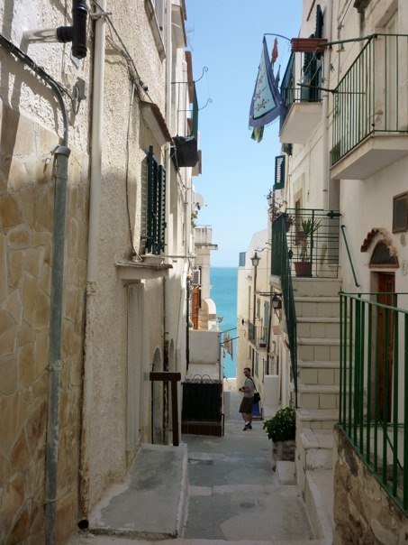 Vieste, Italy. All roads lead to the sea. :)