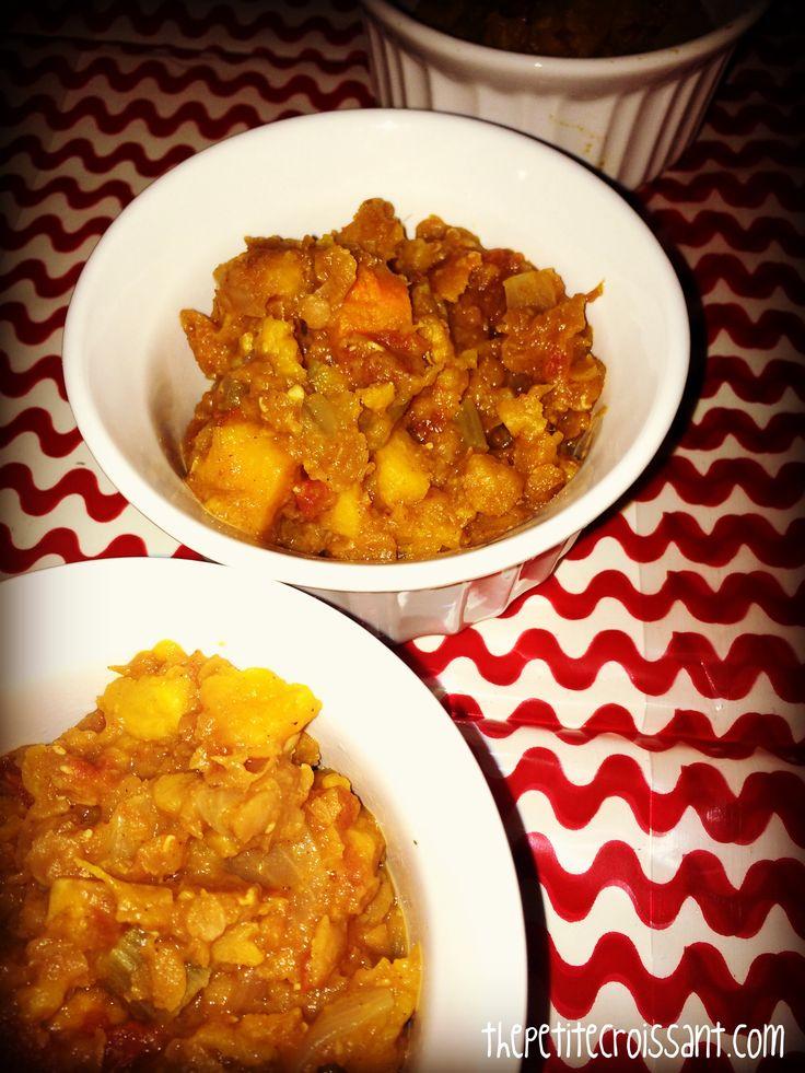 Crock Pot Lentil and Sweet Potato Stew | the petite croissant (my blo ...