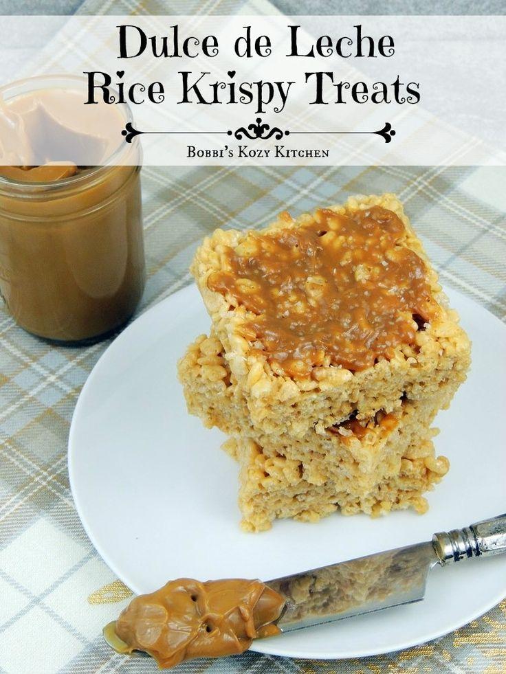 Dulce de Leche Rice Krispy Treats #SundaySupper | Bobbi's Kozy Kitchen