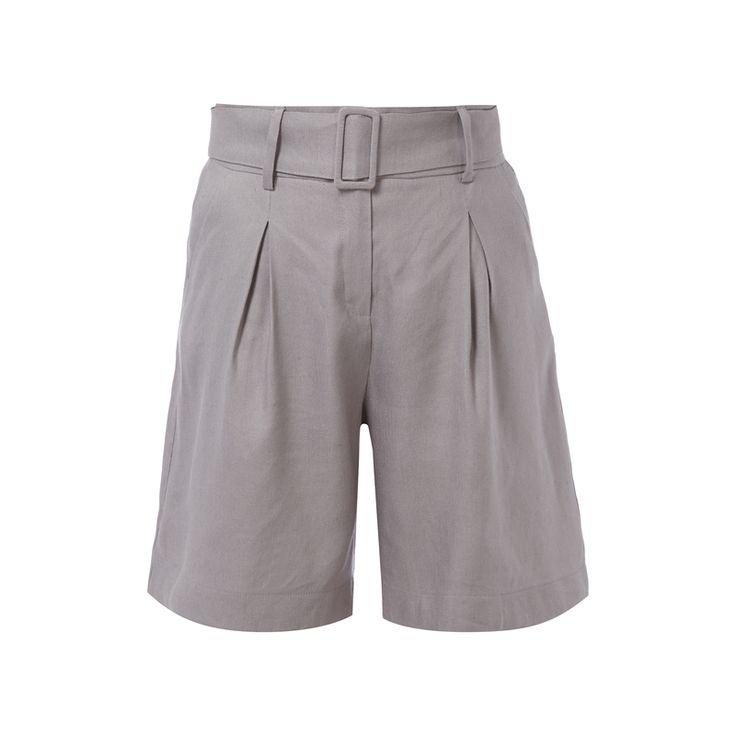 #Someday #Shorts mit #Gürtel für #Damen - Damen Shorts von Someday, Viskose-Leinen-Mix, Lockere Passform, Knopf-, 2-Haken- und Reißverschluss, Zwei französische Eingrifftaschen, Kellerfalten auf der Vorderseite, Inklusive Gürtel, Bundweite bei Größe 36: 72 cm
