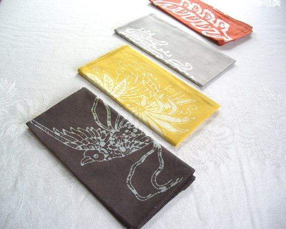 cute napkin set by margotbianca on Etsy, $32.00