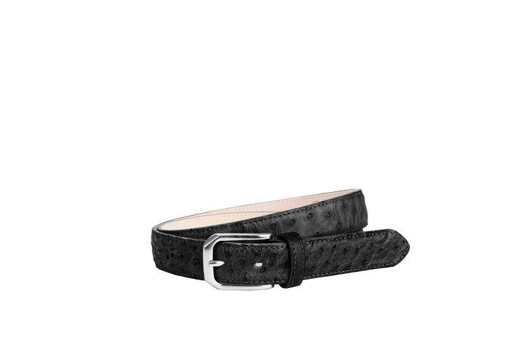 Buckles & Belts - Belt/Gürtel - New Autumn Collection 2016 - Struzzo - ostrich leather - nero - black - Design in SWITZERLAND made in ITALY https://www.facebook.com/BucklesBelts