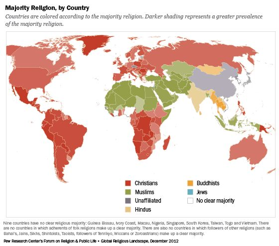 The 133 best map images on pinterest maps cards and argentina the global religious landscape pew forum data maps and charts gumiabroncs Choice Image