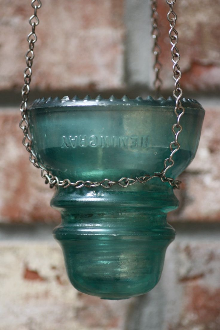 Glass insulator pendant light kit feed - Candleholder Insulator Hanging Rustic Decor 30 00 Via Etsy I Could Totally Make These