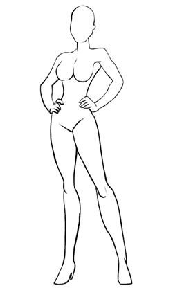 Female form, superhero style