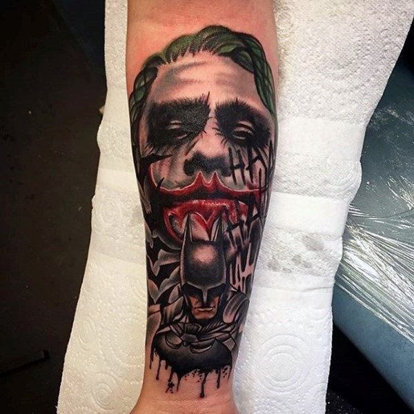 Joker Tattoo Forearm , Best Tattoo Ideas