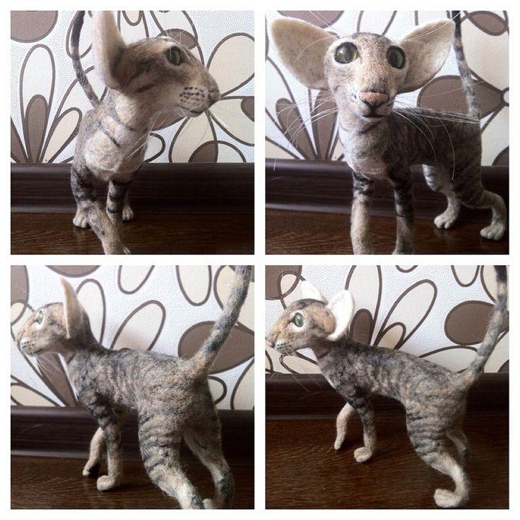 Кошка ориентальной породы, валяние, felting kat