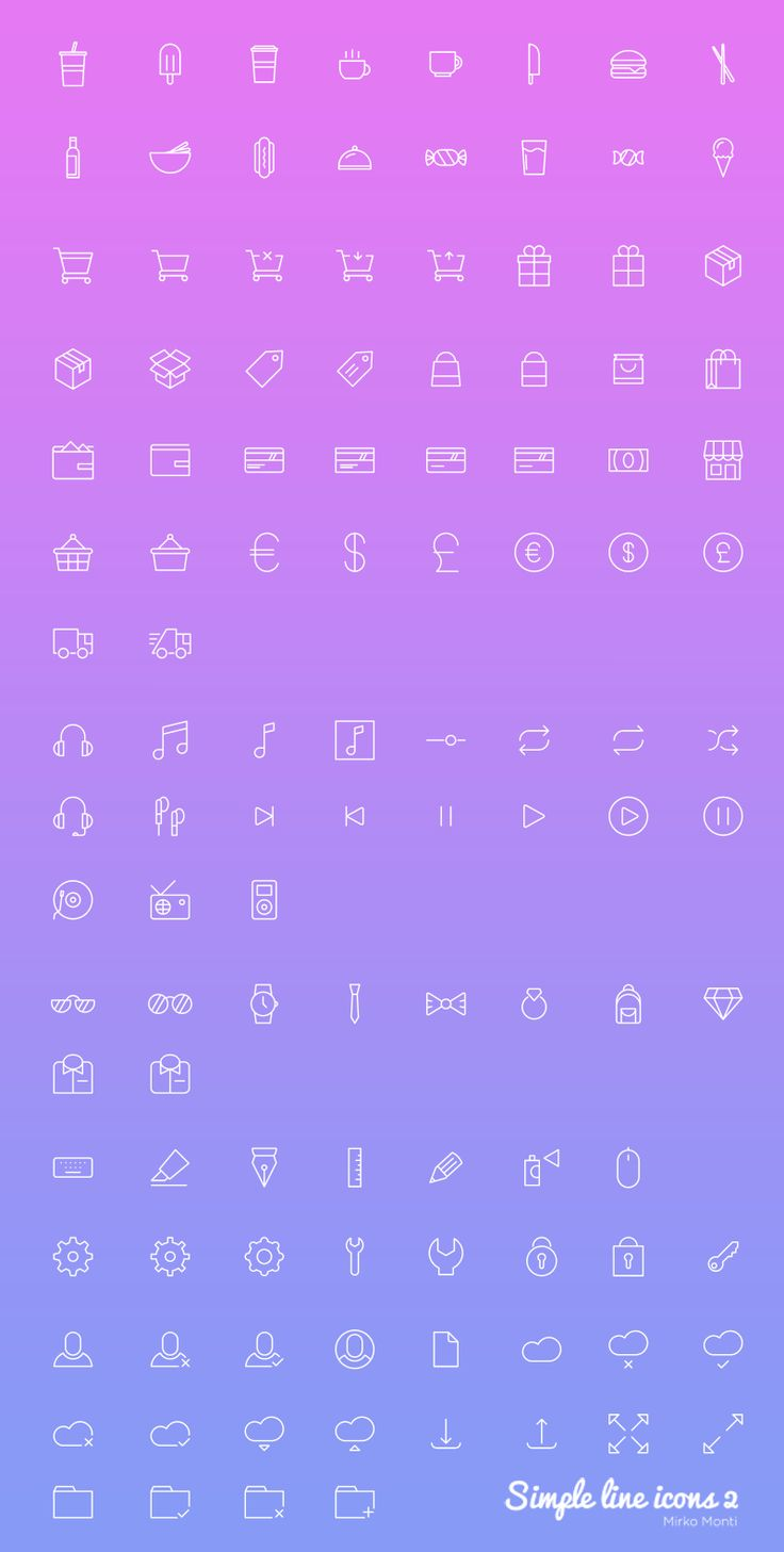 100 E-commerce Icon Set – Freebie