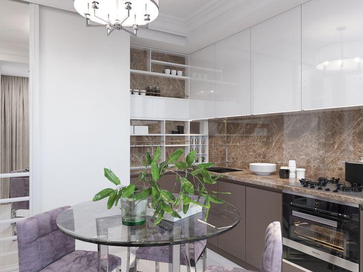 дизайн кухни, выполненный в современном стиле