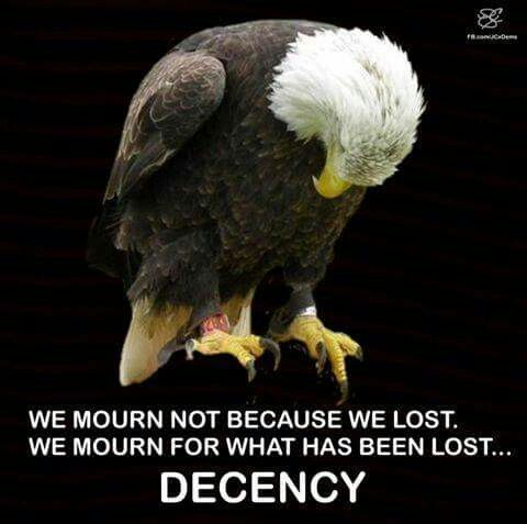 We will mourn, we will grieve, we will remember what America has lost and is in danger of losing, and we will roll up our sleeves and reclaim America for all Americans, including those who have dishonored her the most with their hate-mongering, fearmongering, and greed. The torch of the Statue of Liberty has dimmed but we will never let it go out. This is what it means to be a Liberal. This is what it means to be an American.