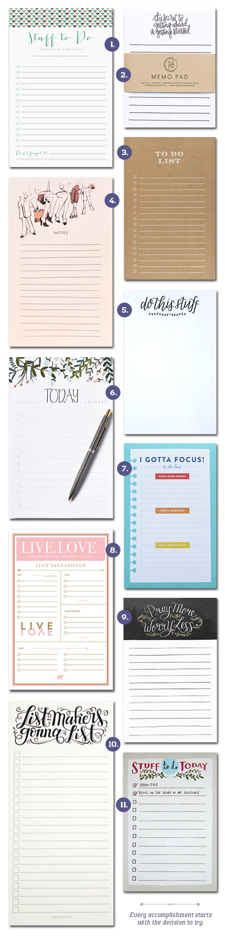 // On The Blog: It's Time To Get Stuff Done! A list of some awesome to-do notepads to aid in productivity!