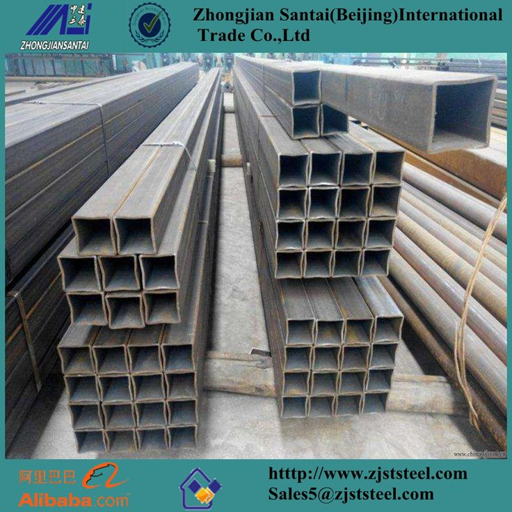 Metal building materials schedule 40 black steel square tube Email:Sales5@zjststeel.com Whatsapp:+8615226592835