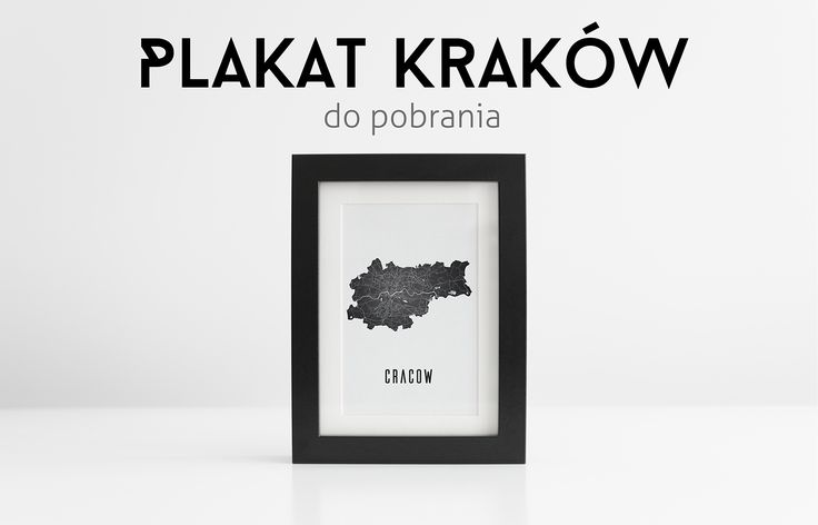 Plakat Mapa Krakowa - When In Jungle - Blog o Grafice i Fotografii