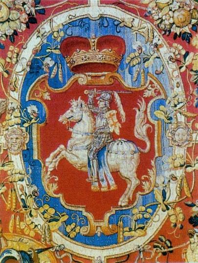 Выява Пагоні 1555 г. Wawel Arrases