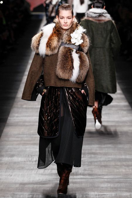 loving this look.  This model is too much too good. I love the fur on this.  #fendi does it right with the fur EVERY FREAKING TIME!!