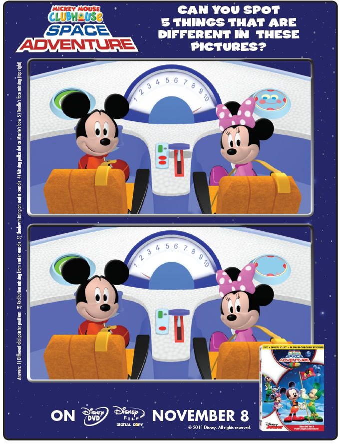 Mickey Mouse Clubhouse Space Adventure Spot the Difference ...