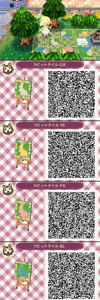 Animal Crossing New leaf QR codes cute rabbit tile