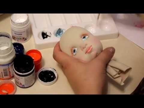 Мастер класс. Текстильно скульптурная кукла. Урок 2. Раскраска лица - YouTube