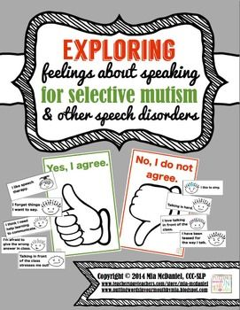Exploring Feelings about Speaking-for Selective Mutism & other speech disorders