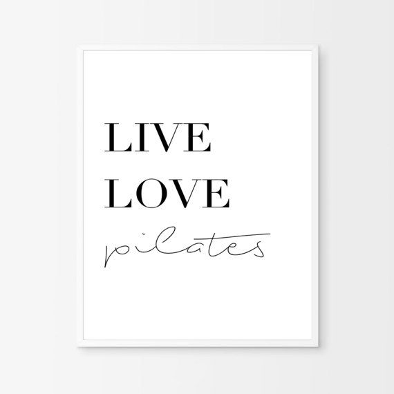 Pilates decor Pilates Prints Exercises Print by PrintsMiuusStudio
