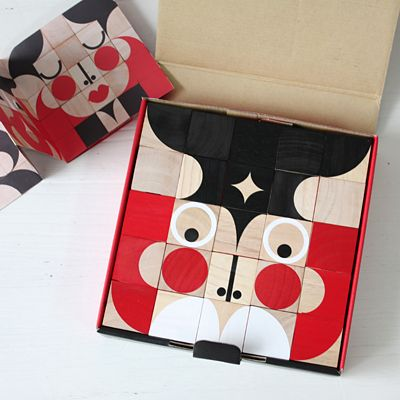 miller goodman 木製キューブブロック FaceMaker - 大人かわいい雑貨のセレクトショップ「マッシュノート」