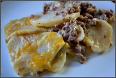 Hamburger potato casserole **Nothing special but very easy and very good