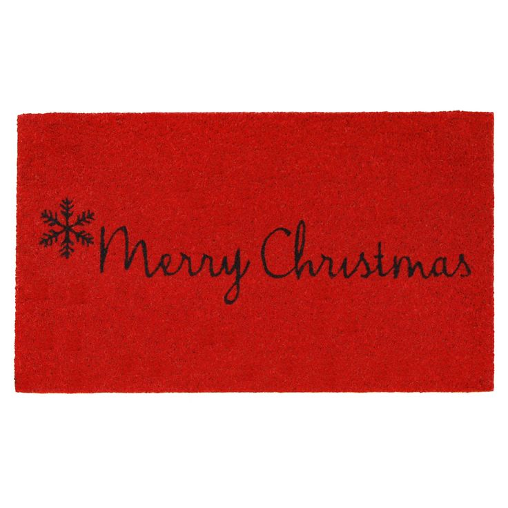 Momentum Mats Red Merry Christmas Doormat