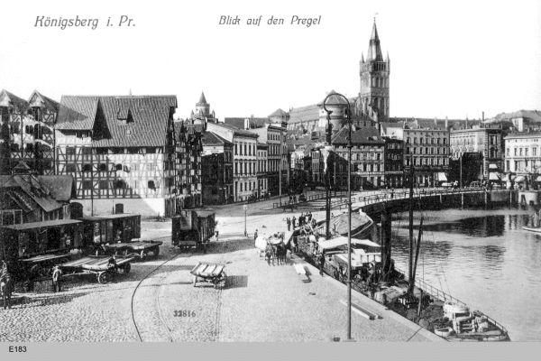 Königsberg, Blick auf den Pregel