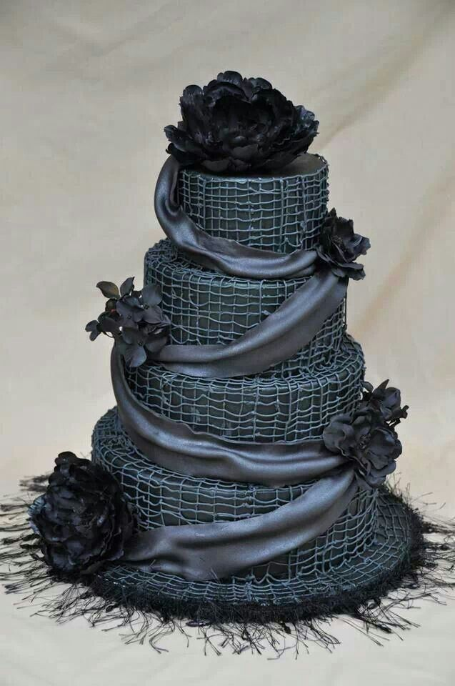 black wedding cakes images black wedding cake weddings black 11884