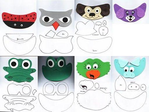 DIY Animals Visors or Hats.