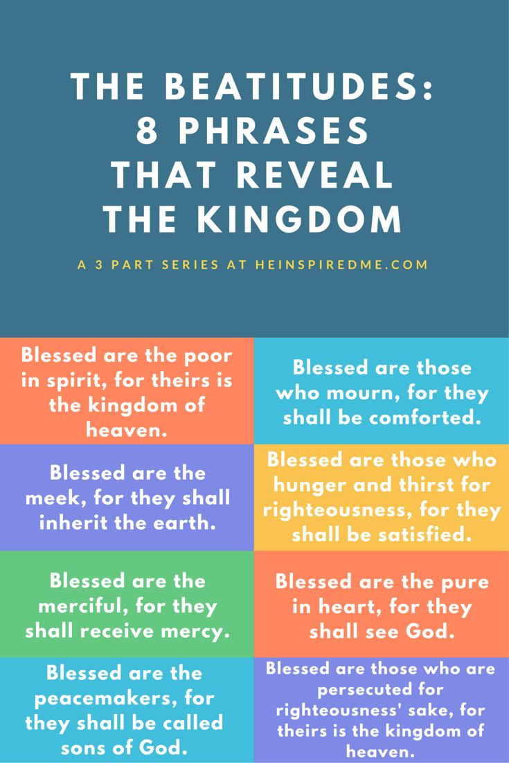 A revealing look at the 8 Beatitudes that reveal the Kingdom of God.