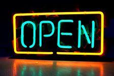 "OPEN Business Restaurant Bar Beer Store Shop Red NEON Light Sign 10"" x 7"""