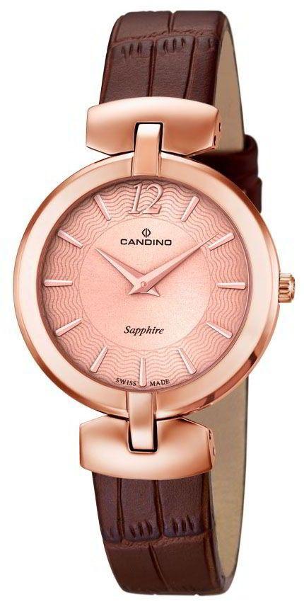 Candino Uhr Damenuhr C4567/2 Armbanduhr Lederband braun